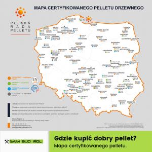 Mapa certyfikowanego pelletu drzewnego